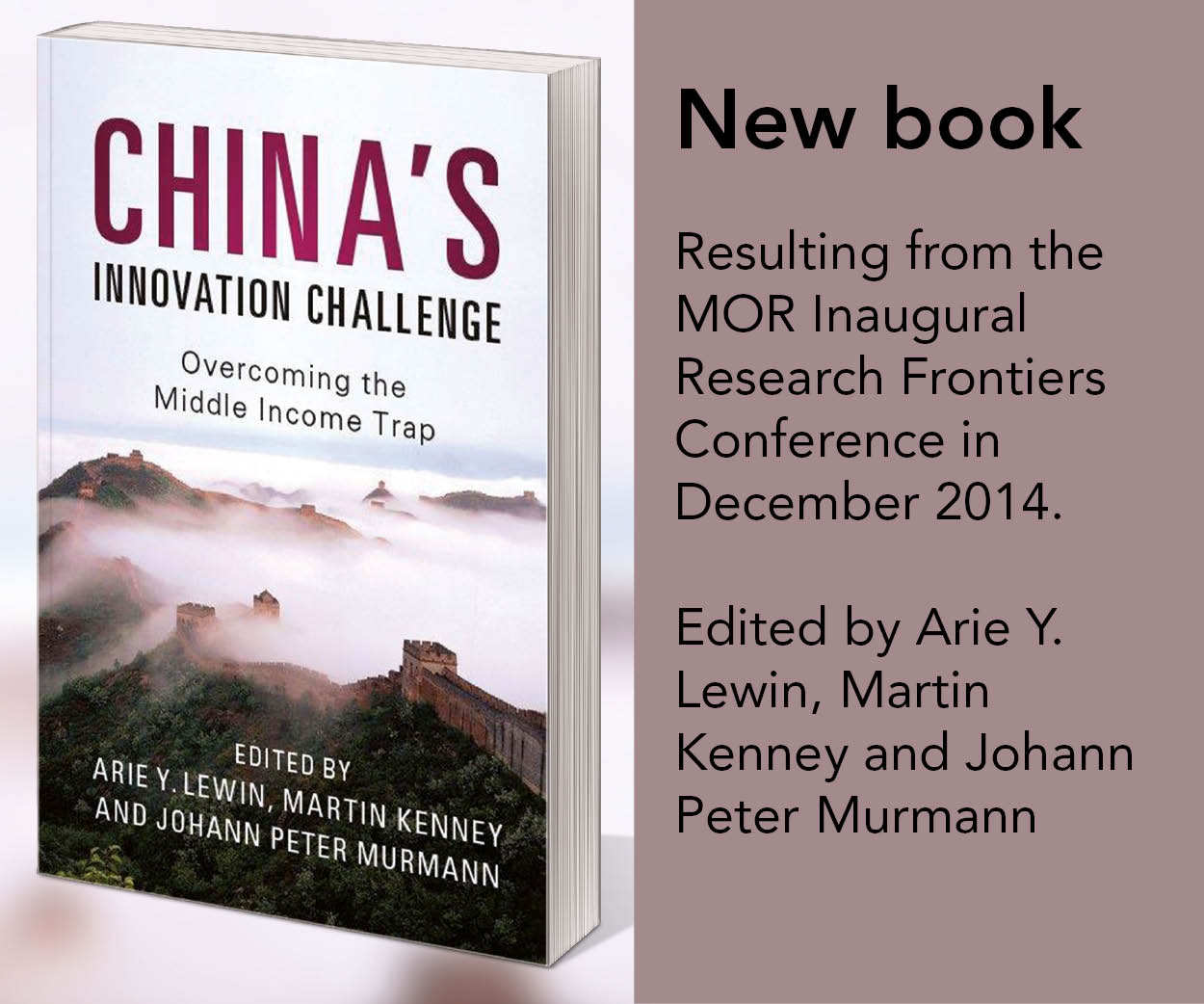 New book: China's Innovation Challenge