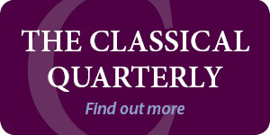 Classical Quarterly CAQ banner