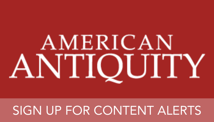 American Antiquity AAQ content alerts banner