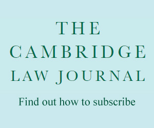 The Cambridge Law Journal subscribe banner