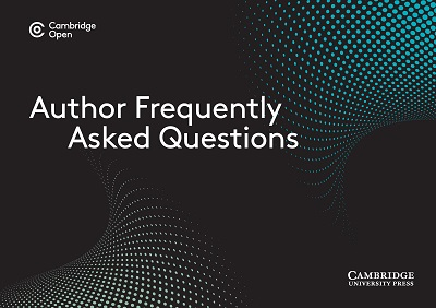 Cambridge Open Frequently Asked Questions for Authors