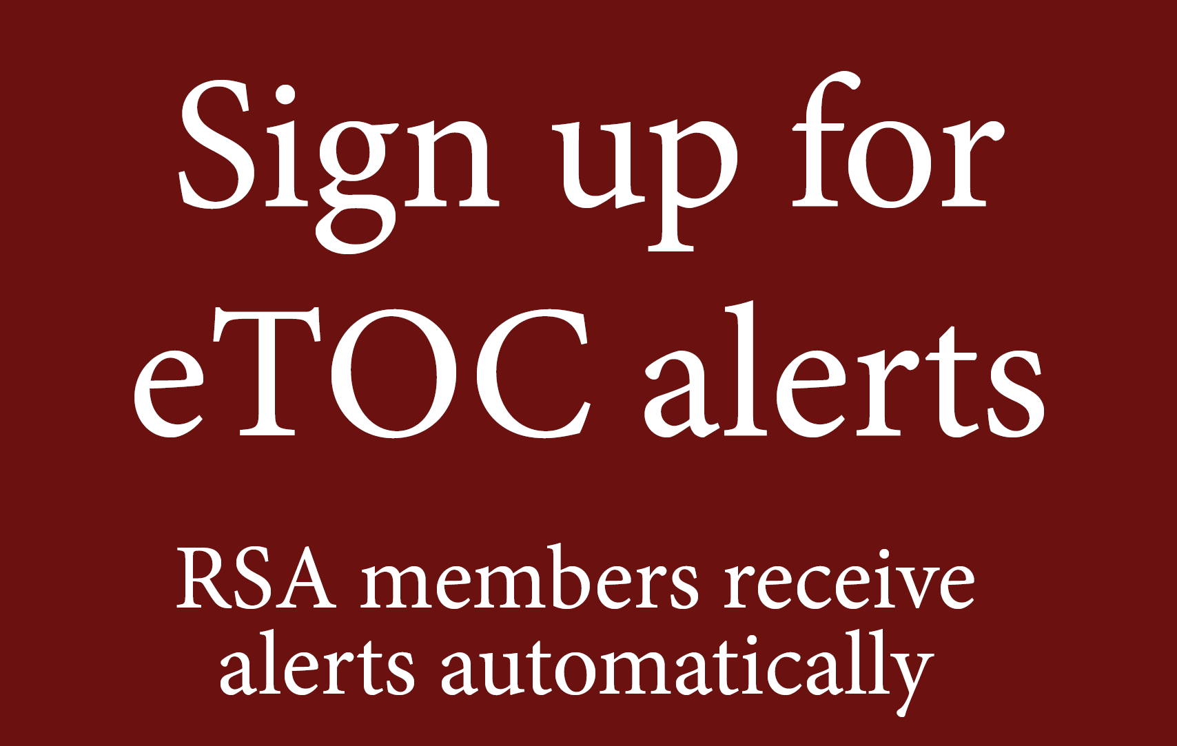 Sign up for Renaissance Quarterly email alerts