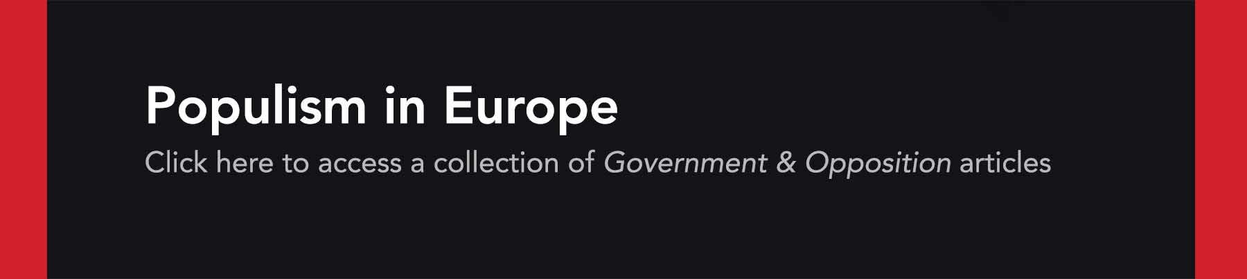 Populism in Europe collection banner