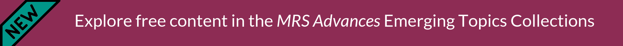 MRS Advances Emerging Topics