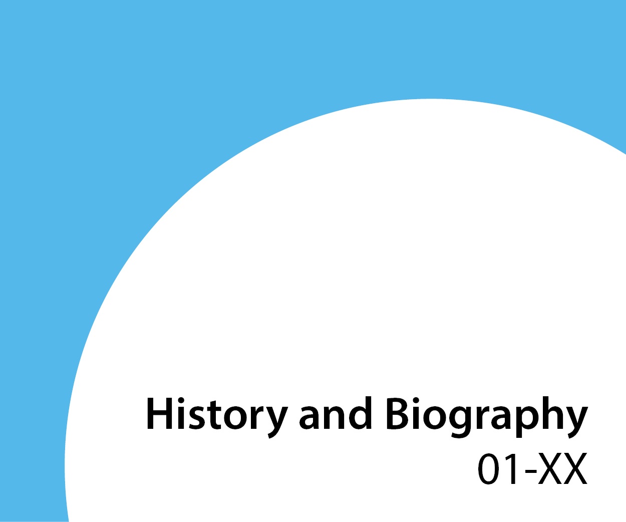 01-xx History and Biography