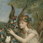Bida, Alexandre, artist. Midsummer night's dream, IV, 1, Titania adorns Bottom with Flowers. Nineteenth century.