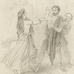 Meadows, Joseph Kenny, artist. Comedy of Errors, Act 4, Scene 3. [mid-nineteenth century]