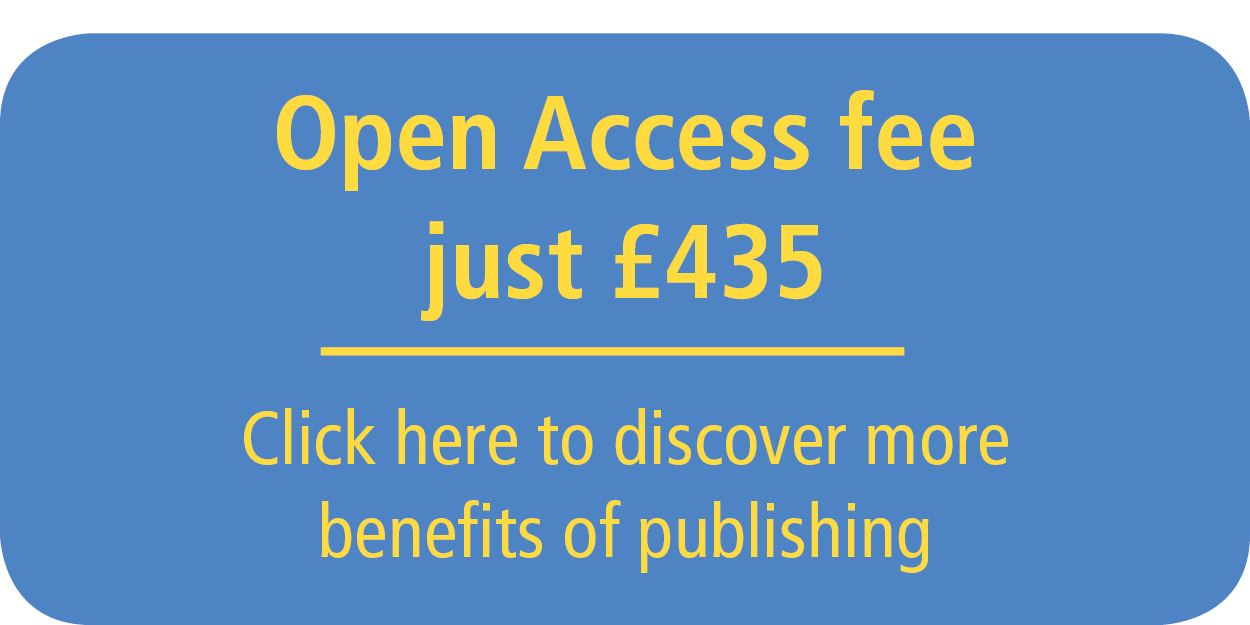 Open Access fee for publishing is just £435