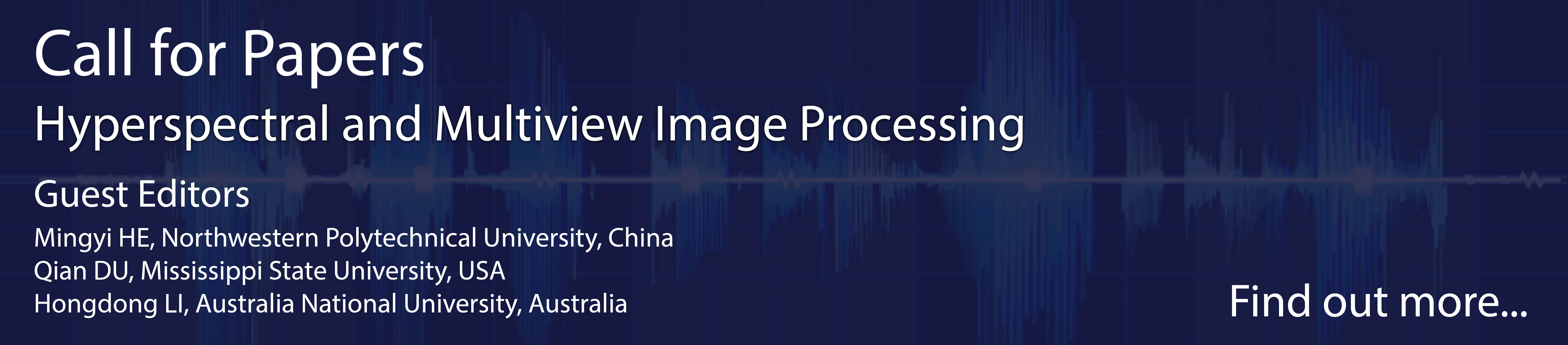 Call for papers - hyperspectral and multiview image processing