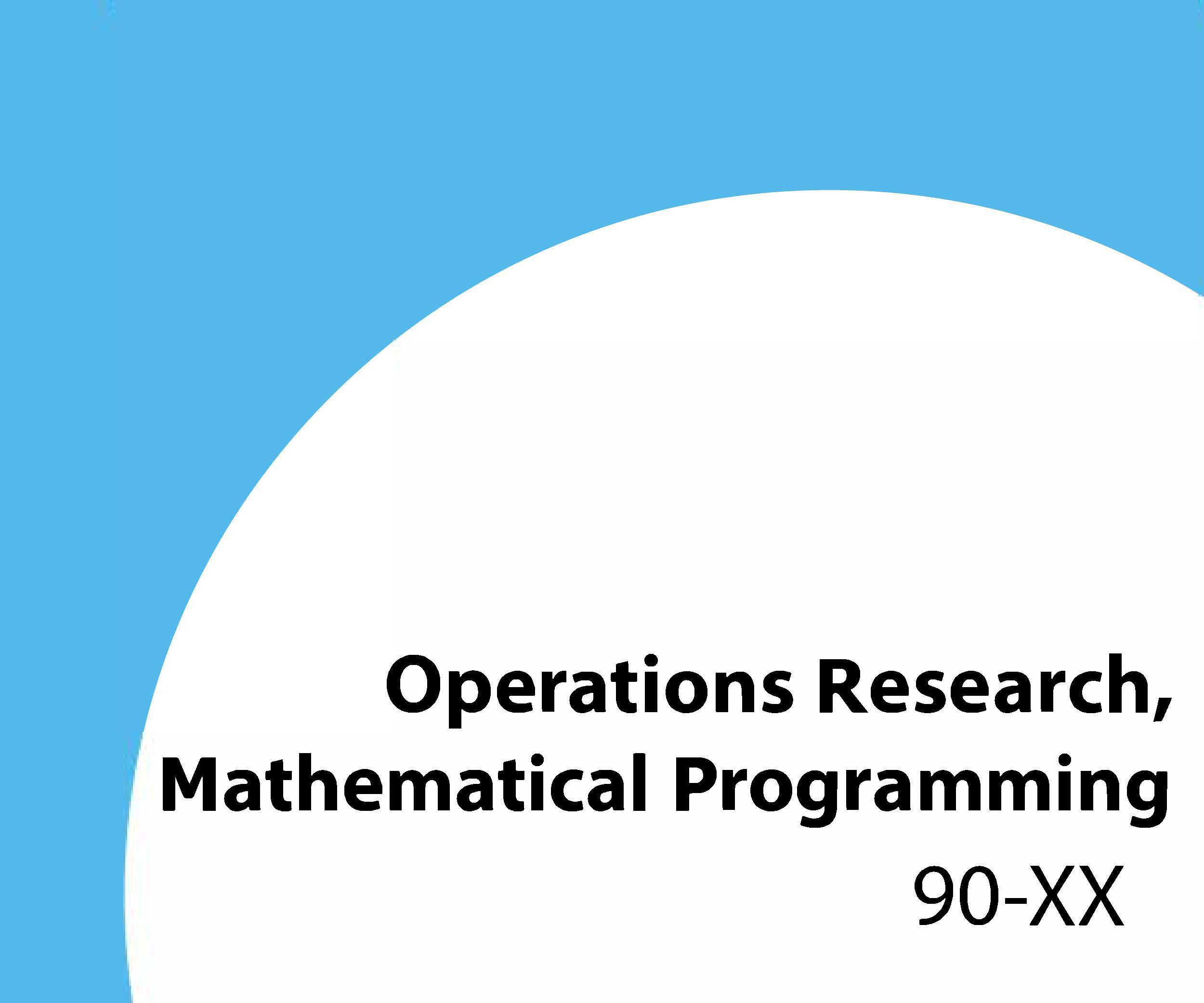 90-xx Operations research, mathematical programming