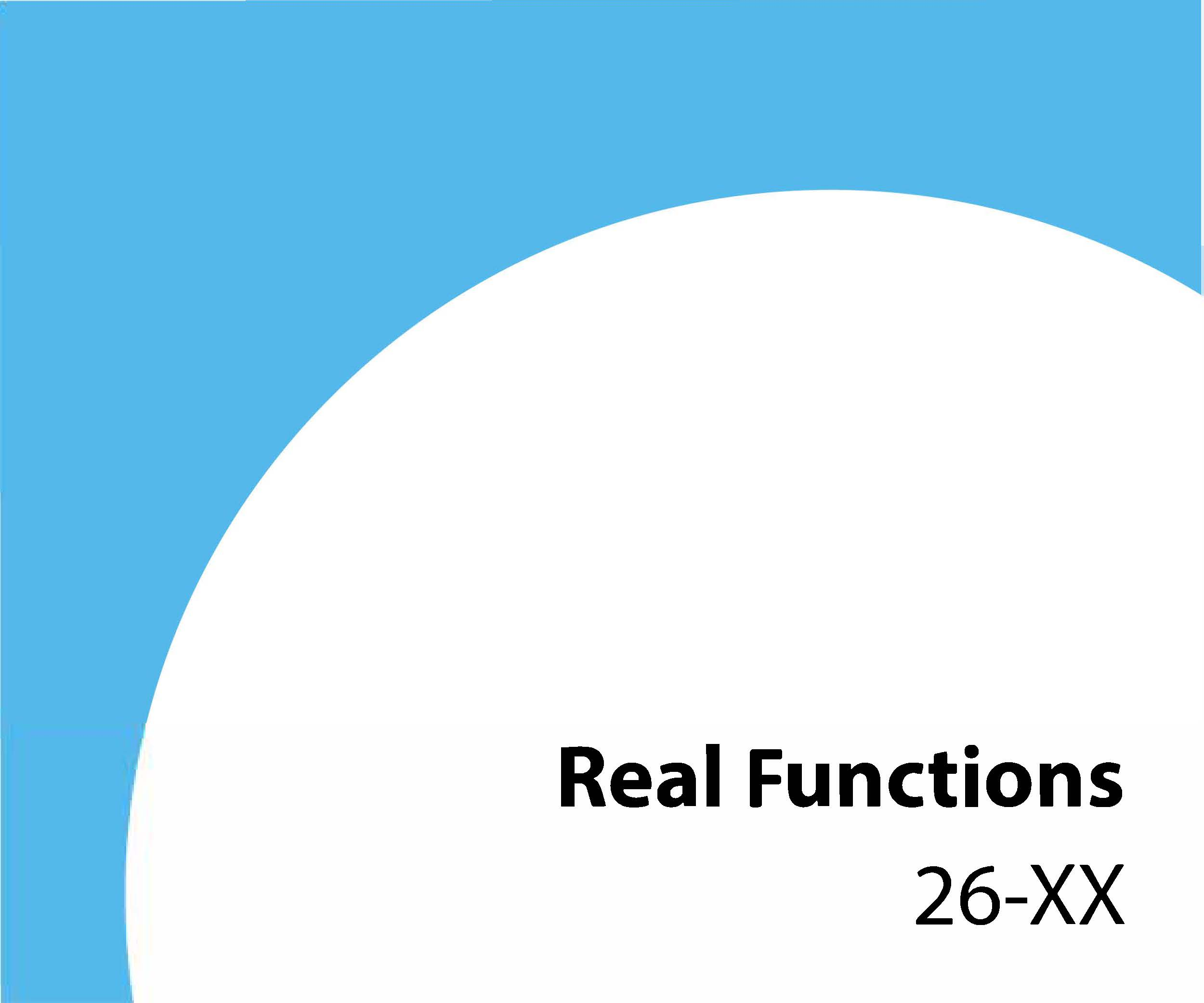 26-xx Real functions