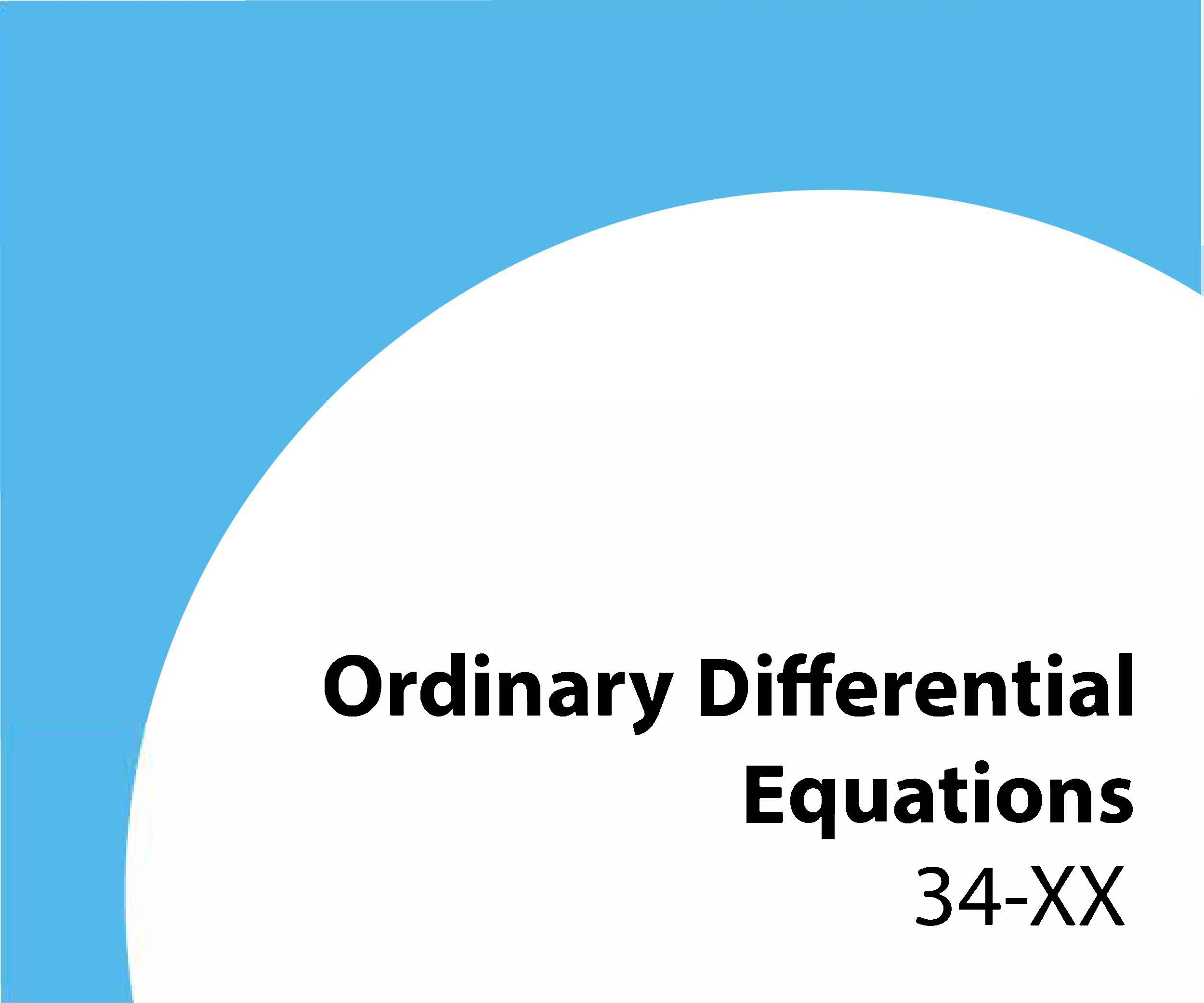 34-xx Ordinary differential equations