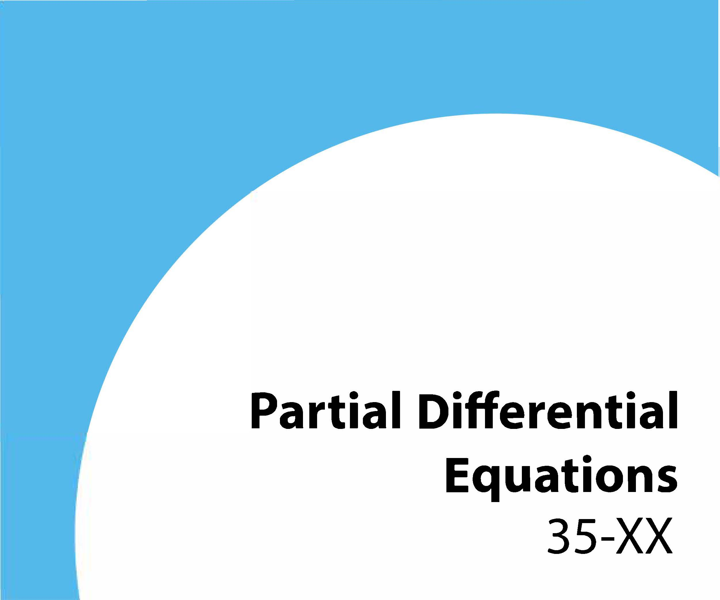 35-xx Partial differential equations