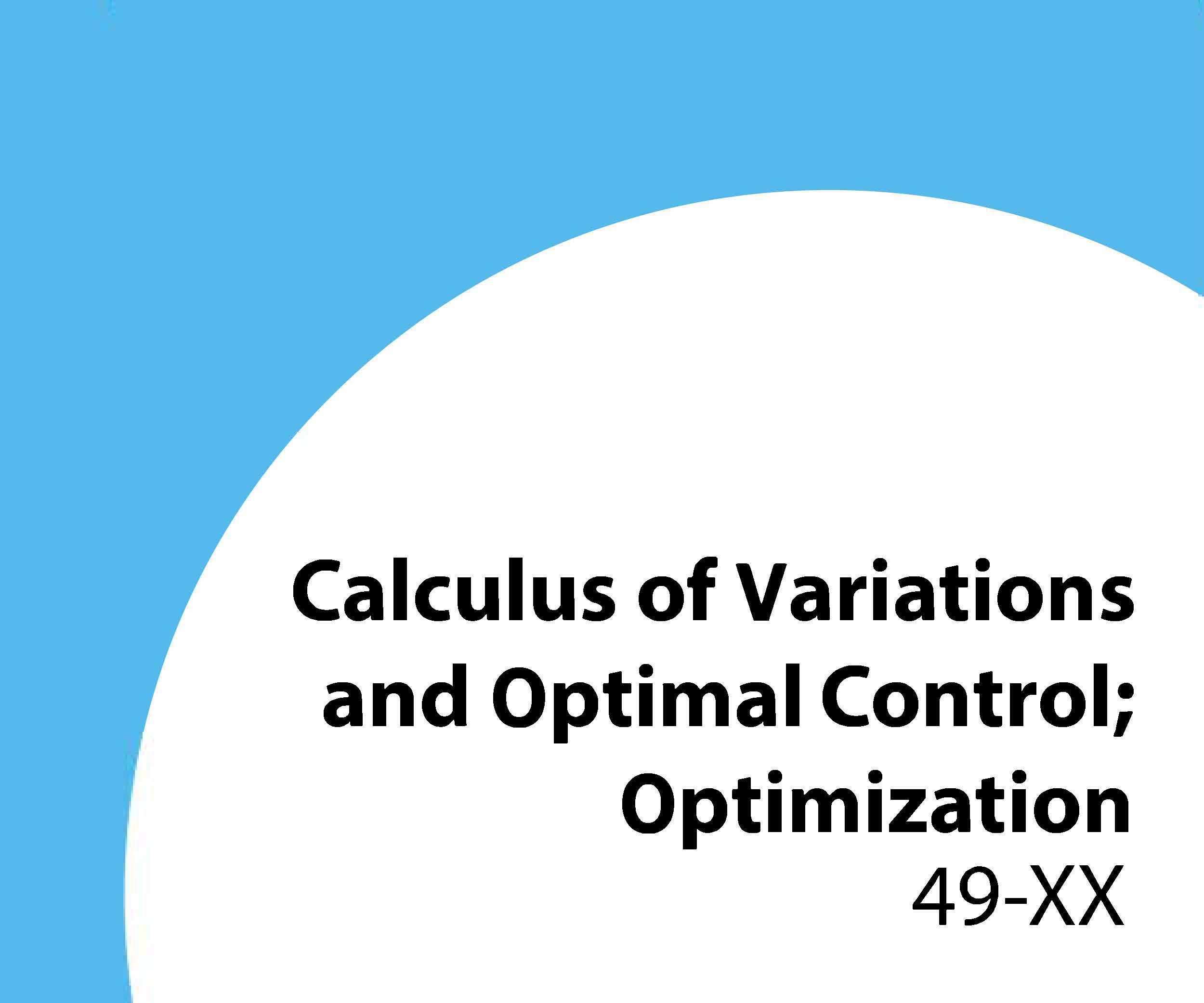 49-xx Calculus of variations and optimal control; optimization