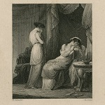 Corbould, Henry, artist. Rape of Lucrece, One justly weeps. Henry Rolls, printmaker, early to mid-19th century.