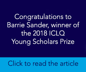 ICLQ YS Prize 2018