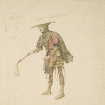 Lucas, John Seymour, artist. [King Lear, sixteen costume sketches]. nineteenth century. - opens in new tab