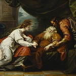 West, Benjamin, artist. King Lear and Cordelia / B. West, 1793. Unknown location: 1793. - opens in new tab