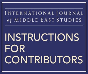 IJMES Instructions for Contributors