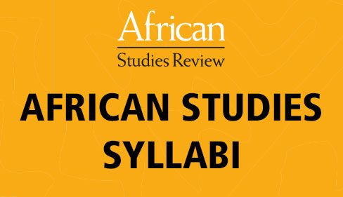 AFRICAN STUDIES SYLLABI