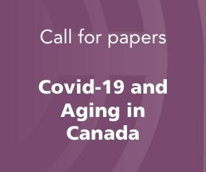 CJG Call for papers - Covid 19 and Aging in Canada